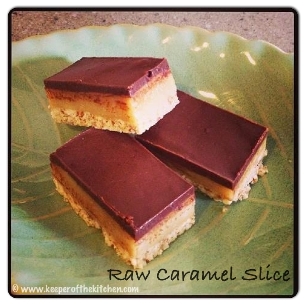 Raw caramel slice keeper of the kitchen rawfood caramel slice forumfinder Gallery