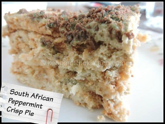 Peppermint Crisp Pie