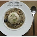 Slow cooked lamb and mushroom