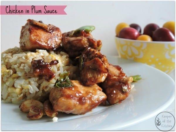 Chicken in Plum Sauce