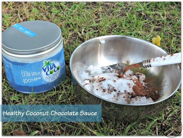 Healthy Coconut Chocolate Sauce