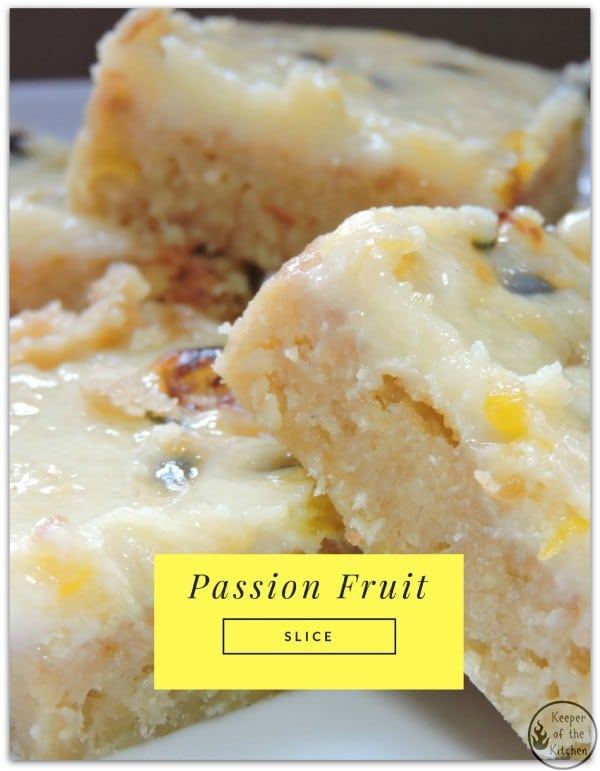 Passion Fruit Slice